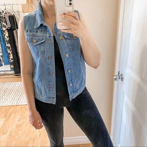"""NWT Friends """"You're my lobster"""" Denim Vest"""